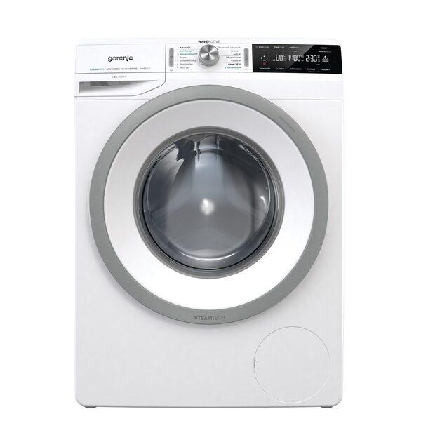 GORENJE Waschmaschine WA74S3PS, 7 kg, 1400 U/Min, LED Display WaveActive Trommel Inverter PowerDrive Motor