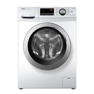 Haier Waschmaschine HW100-BP14636, 10 kg, 1400 U/Min, Bürstenloser Inverter Motor Schontrommel aus Edelstahl Vollwasserschutz