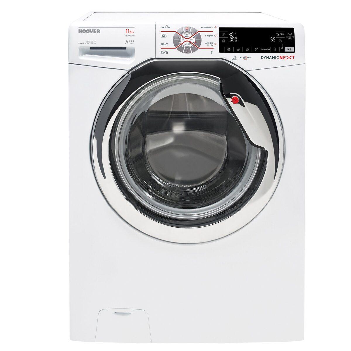 Bild 1 von Hoover Waschmaschine DWOT 611AHC3/1-S, 11 kg, 1600 U/Min, Invertermotor, Mengenautomatik, All in One 59 min., NFC- und WiFi-Technologie