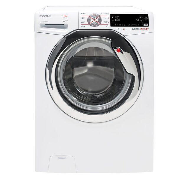 Hoover Waschmaschine DWOT 611AHC3/1-S, 11 kg, 1600 U/Min, Invertermotor, Mengenautomatik, All in One 59 min., NFC- und WiFi-Technologie