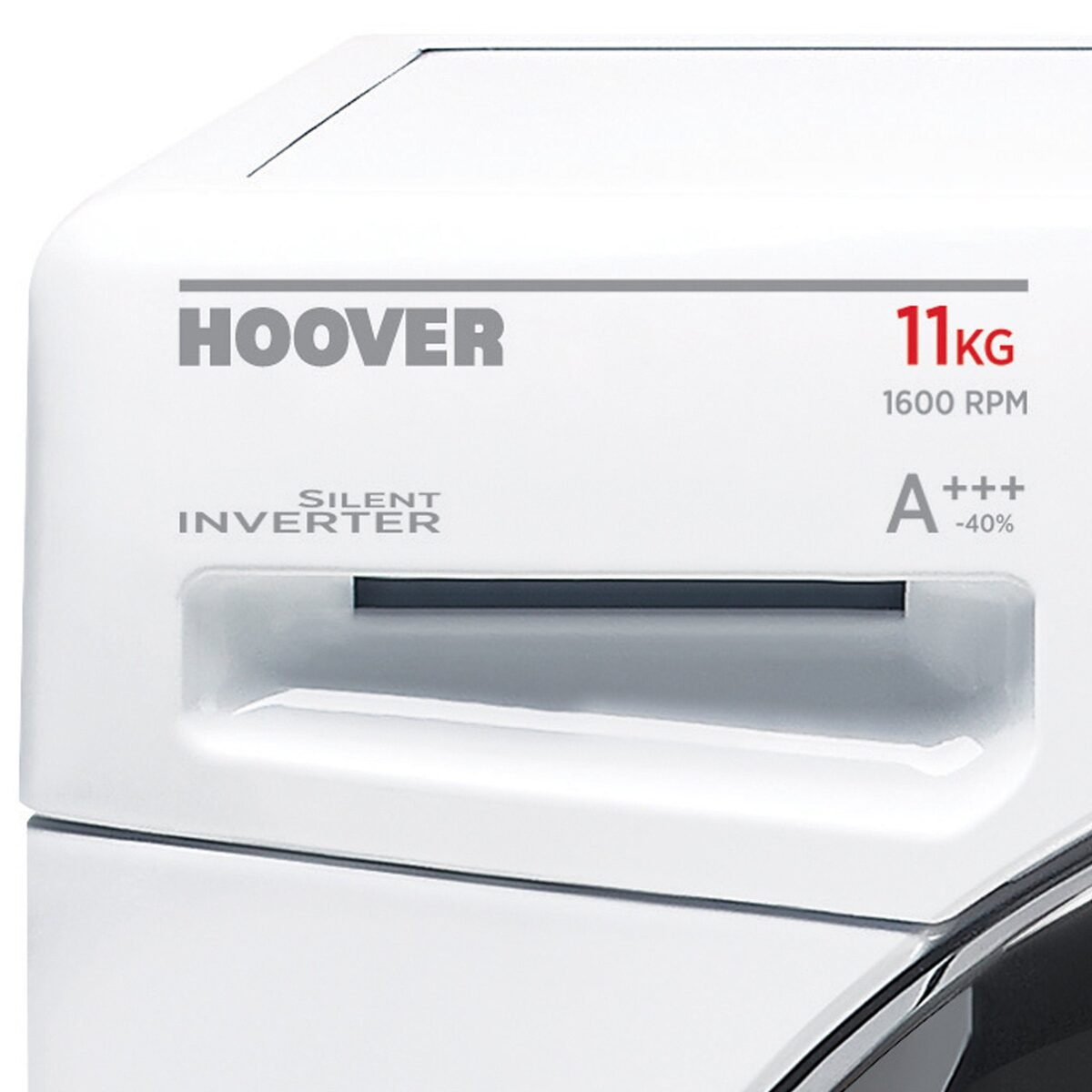 Bild 2 von Hoover Waschmaschine DWOT 611AHC3/1-S, 11 kg, 1600 U/Min, Invertermotor, Mengenautomatik, All in One 59 min., NFC- und WiFi-Technologie