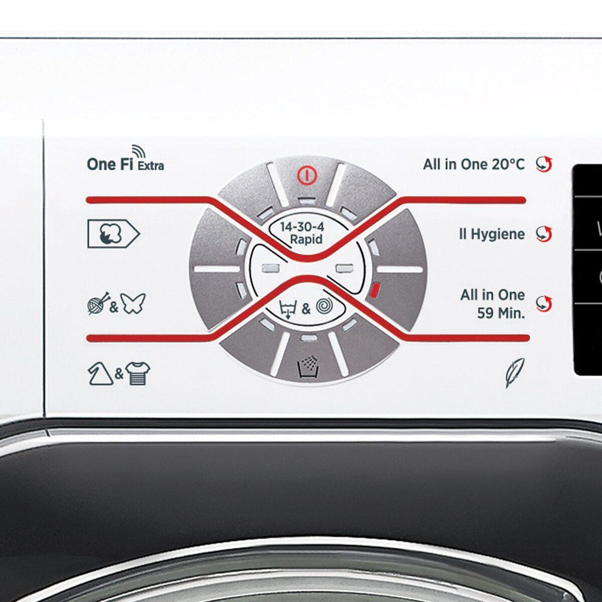 Bild 3 von Hoover Waschmaschine DWOT 611AHC3/1-S, 11 kg, 1600 U/Min, Invertermotor, Mengenautomatik, All in One 59 min., NFC- und WiFi-Technologie