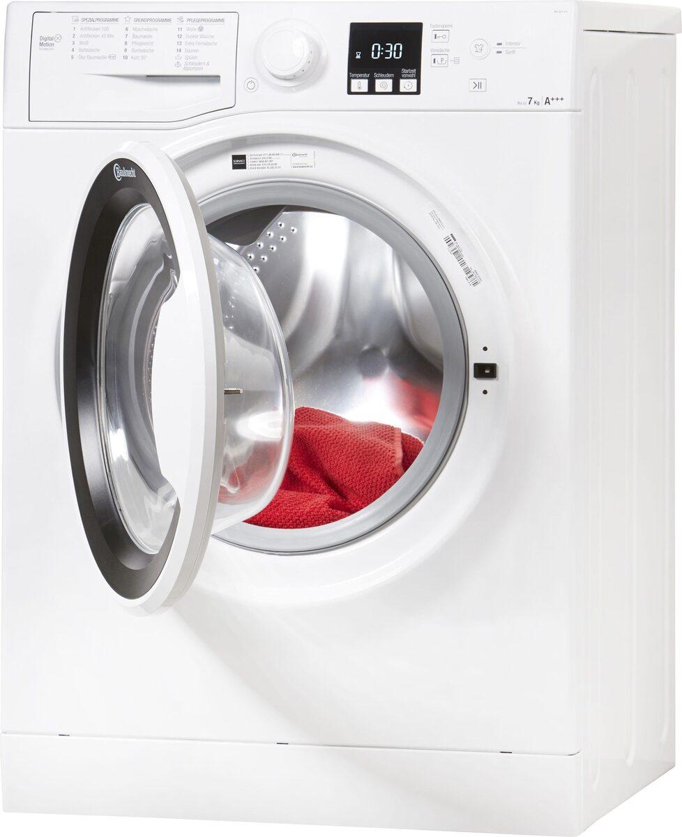 Bild 2 von BAUKNECHT Waschmaschine WA Soft 7F4, 7 kg, 1400 U/Min