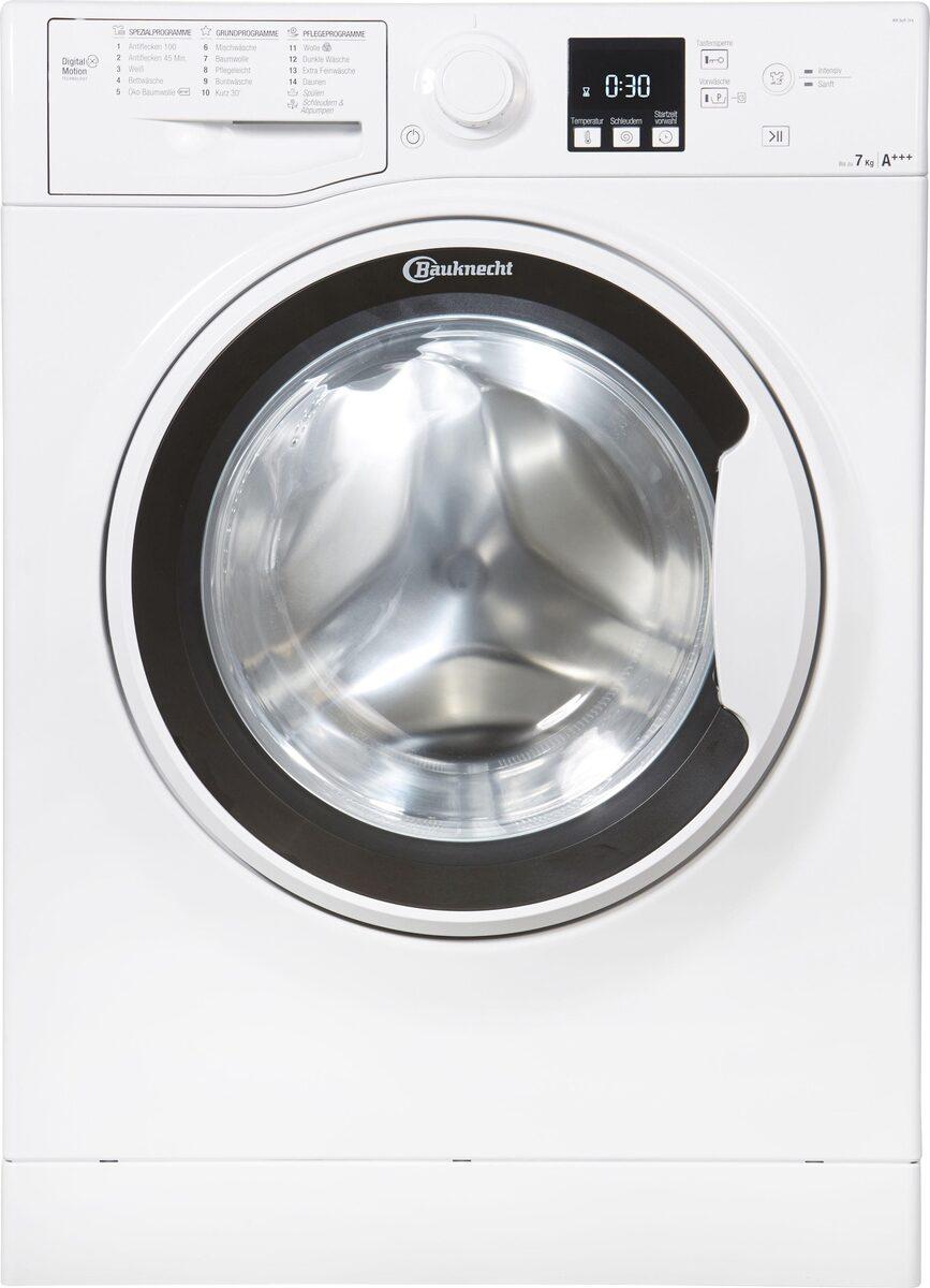 Bild 3 von BAUKNECHT Waschmaschine WA Soft 7F4, 7 kg, 1400 U/Min