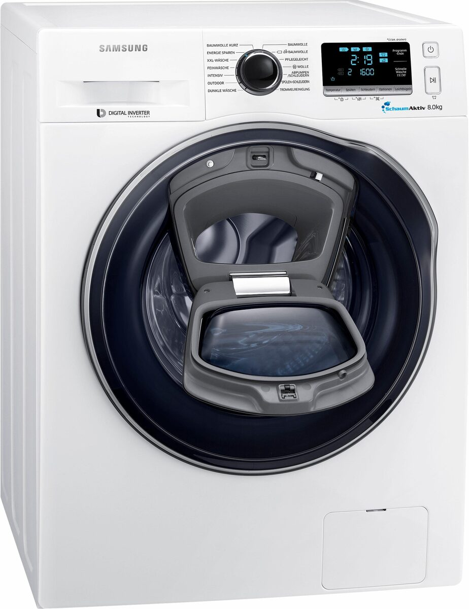 Bild 1 von Samsung Waschmaschine AddWash WW6400 WW8GK6400QW, 8 kg, 1400 U/Min, AddWash