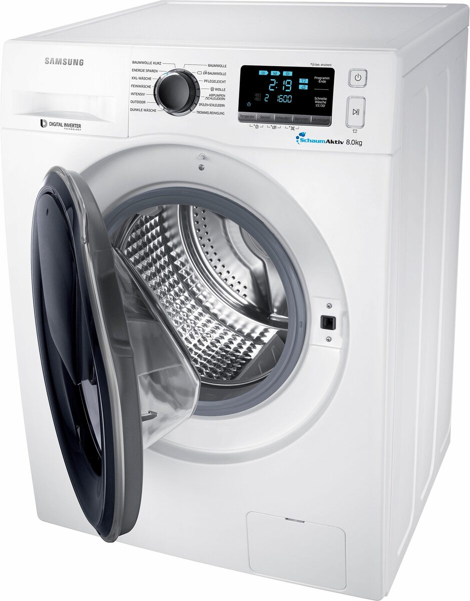 Bild 3 von Samsung Waschmaschine AddWash WW6400 WW8GK6400QW, 8 kg, 1400 U/Min, AddWash