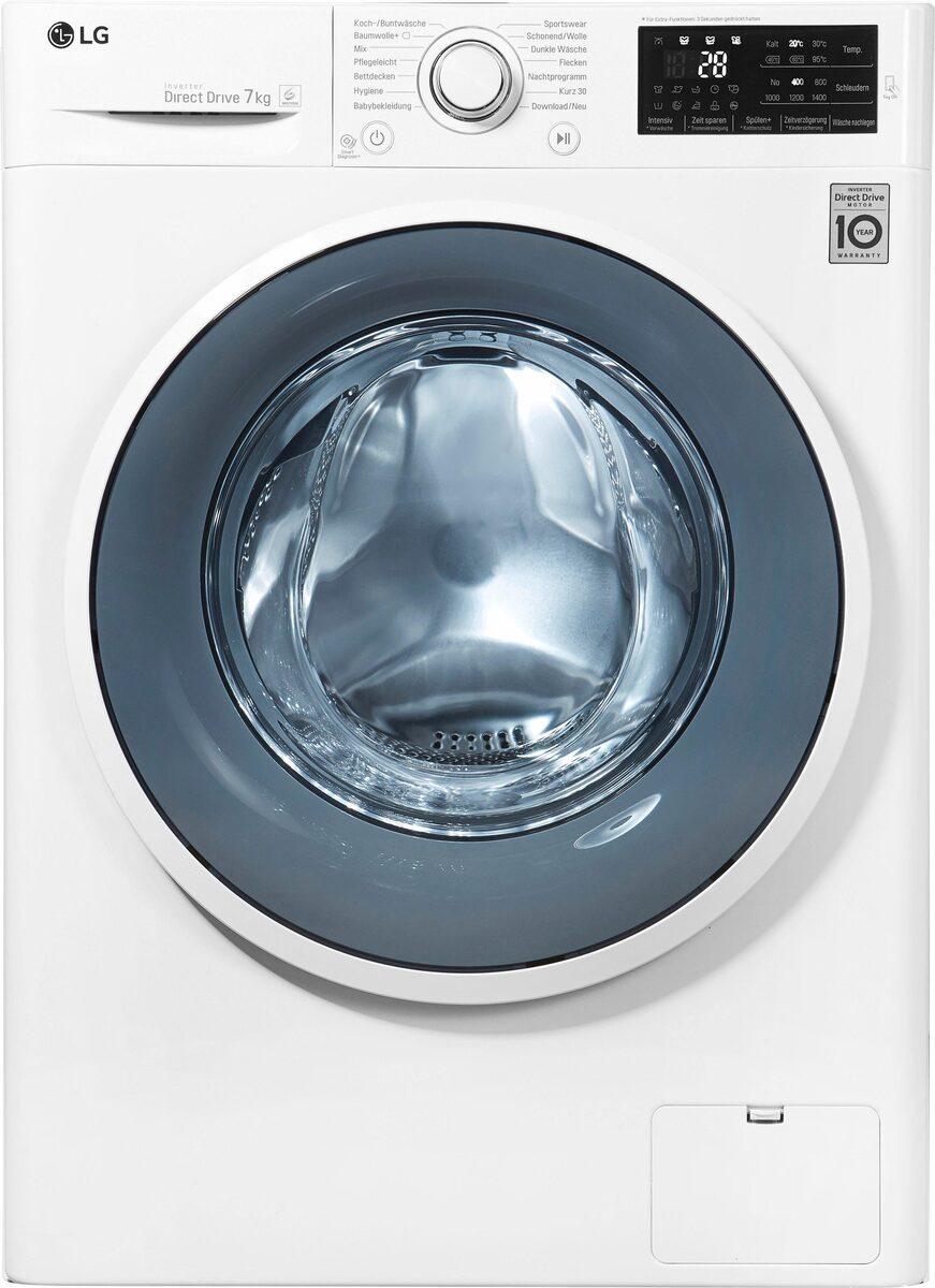 Bild 3 von LG Waschmaschine F14WM7EN0, 7 kg, 1400 U/Min