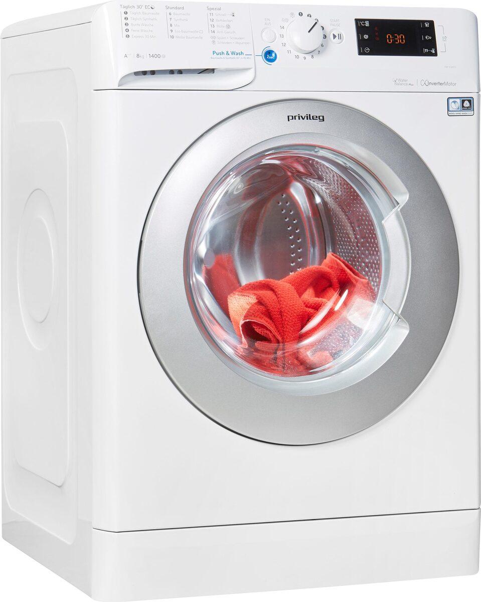 Bild 1 von Privileg Waschmaschine PWF X 843 S, 8 kg, 1400 U/Min