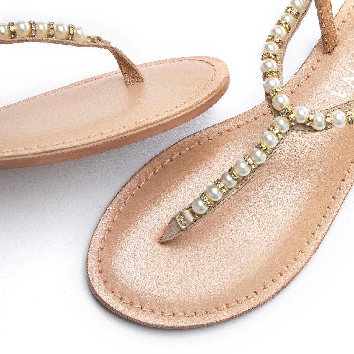 Bild 3 von LASCANA Zehentrenner mit Perlen aus Leder