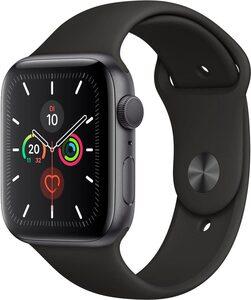Apple Series 5 GPS, Aluminiumgehäuse mit Sportarmband 44mm Watch (Watch OS 6)