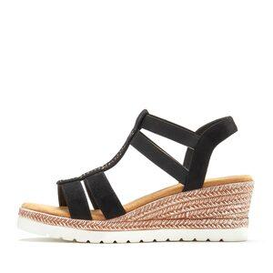 LASCANA Sandalette mit Keilabsatz und dekorativen Schmucksteinen