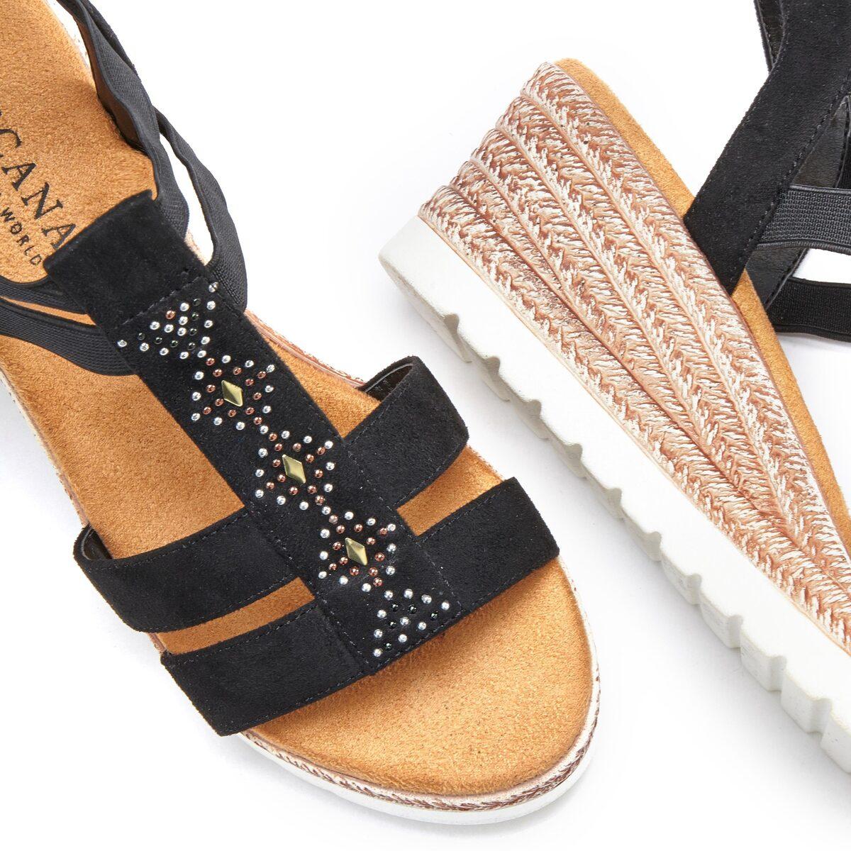 Bild 2 von LASCANA Sandalette mit Keilabsatz und dekorativen Schmucksteinen