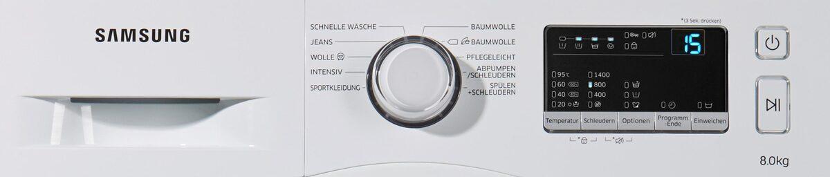 Bild 5 von Samsung Waschmaschine WW3000 WW80J3470KW, 8 kg, 1400 U/Min, Pflegetrommel