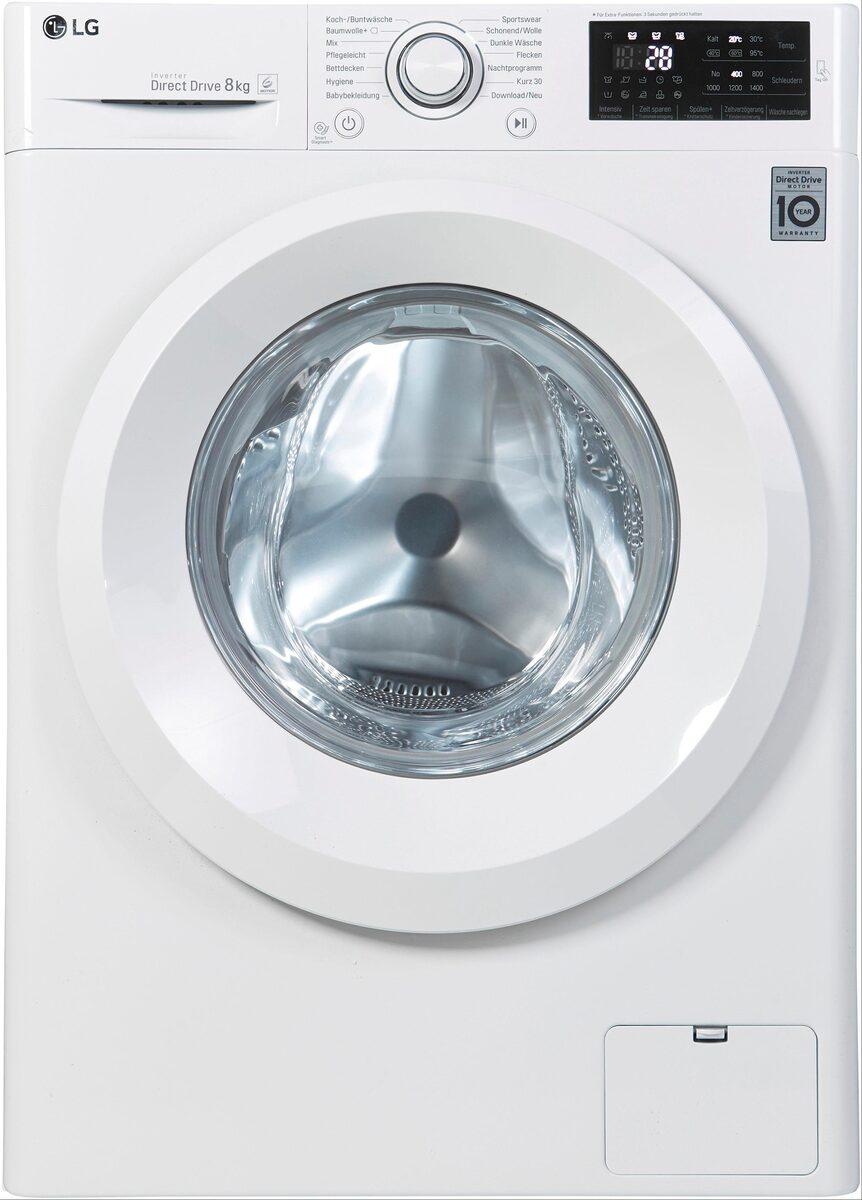 Bild 3 von LG Waschmaschine F14WM8LN0, 8 kg, 1400 U/Min