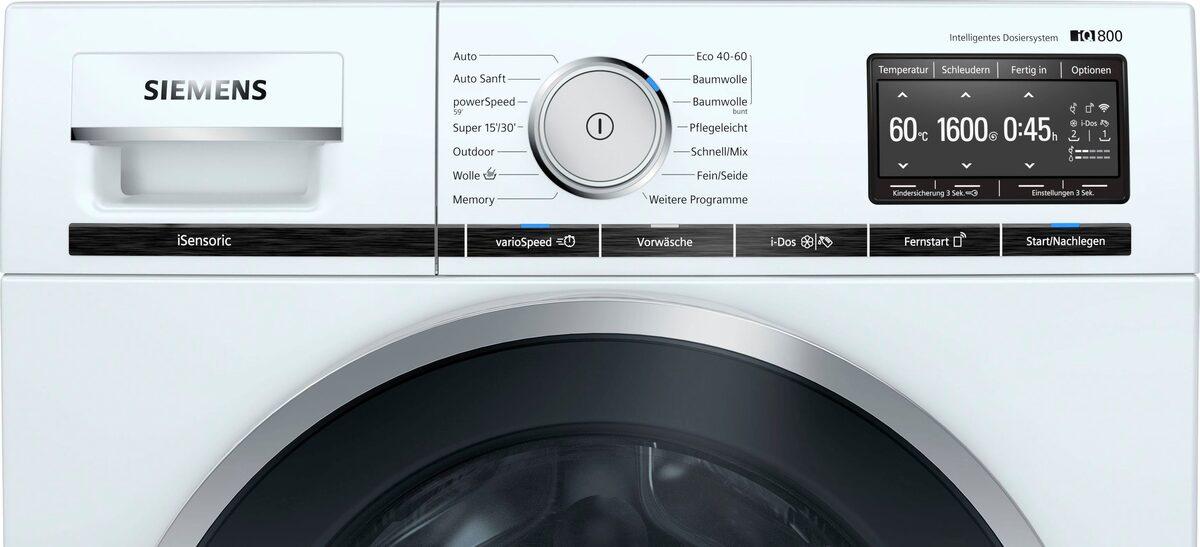Bild 3 von SIEMENS Waschmaschine iQ800 WM16XE40, 9 kg, 1600 U/Min