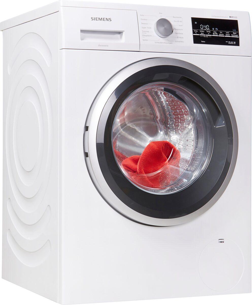 Bild 1 von SIEMENS Waschmaschine iQ500 WM14US70, 9 kg, 1400 U/Min