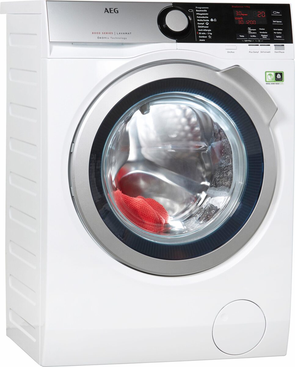 Bild 1 von AEG Waschmaschine LAVAMAT L8FE76695, 9 kg, 1600 U/Min, ÖKOMix - Faserschutz