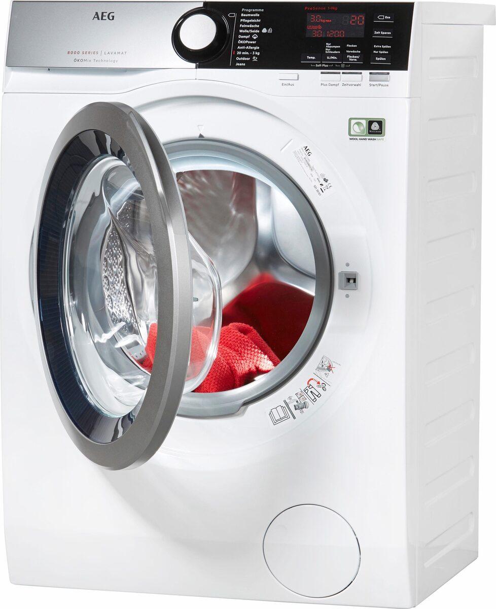 Bild 2 von AEG Waschmaschine LAVAMAT L8FE76695, 9 kg, 1600 U/Min, ÖKOMix - Faserschutz