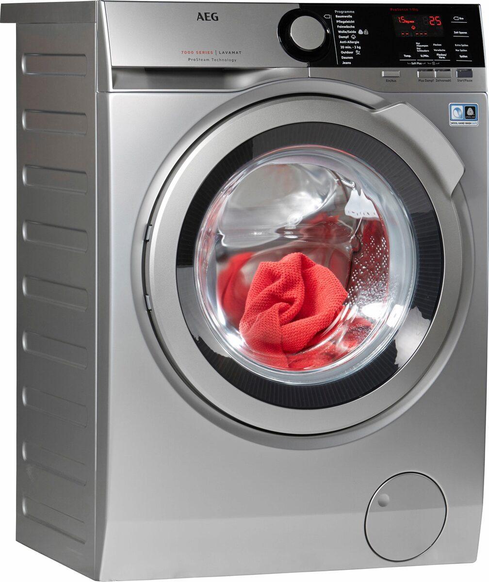 Bild 1 von AEG Waschmaschine LAVAMAT L7FE74485S, 8 kg, 1400 U/Min, ProSteam - Auffrischfunktion