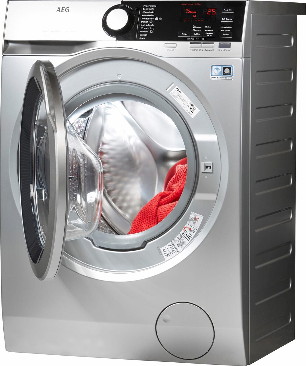 Bild 2 von AEG Waschmaschine LAVAMAT L7FE74485S, 8 kg, 1400 U/Min, ProSteam - Auffrischfunktion