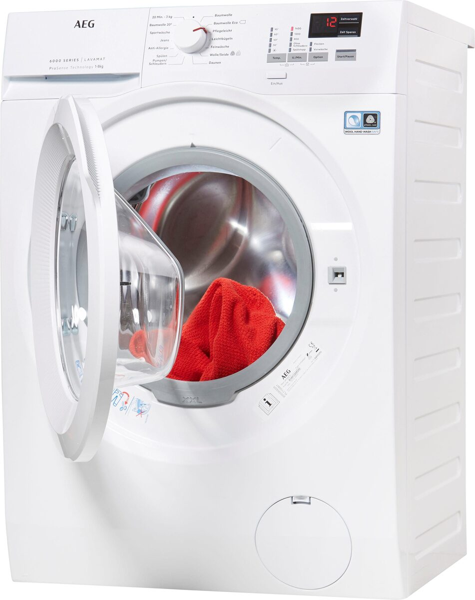 Bild 2 von AEG Waschmaschine L6FBA484, 8 kg, 1400 U/Min, ProSense - Mengenautomatik