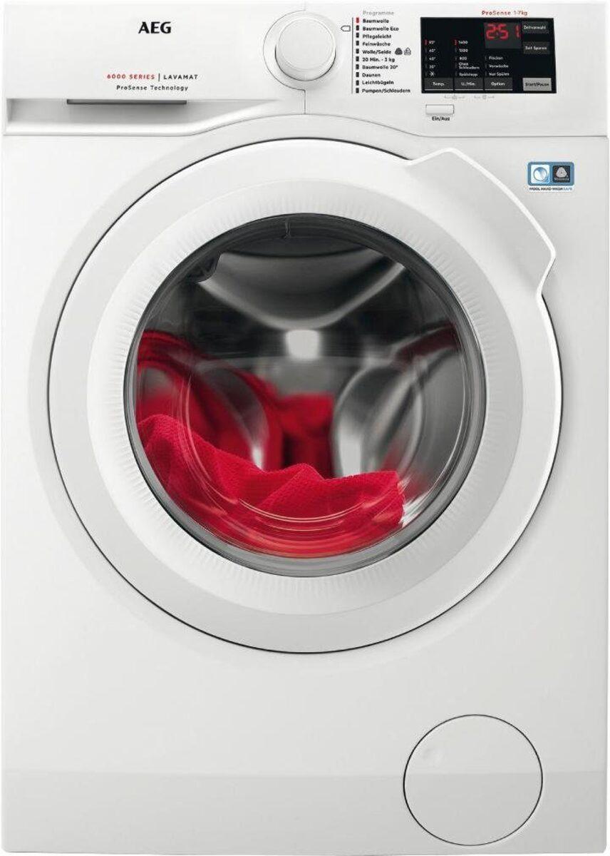 Bild 3 von AEG Waschmaschine LAVAMAT L6FB54470, 7 kg, 1400 U/Min, ProSense - Mengenautomatik