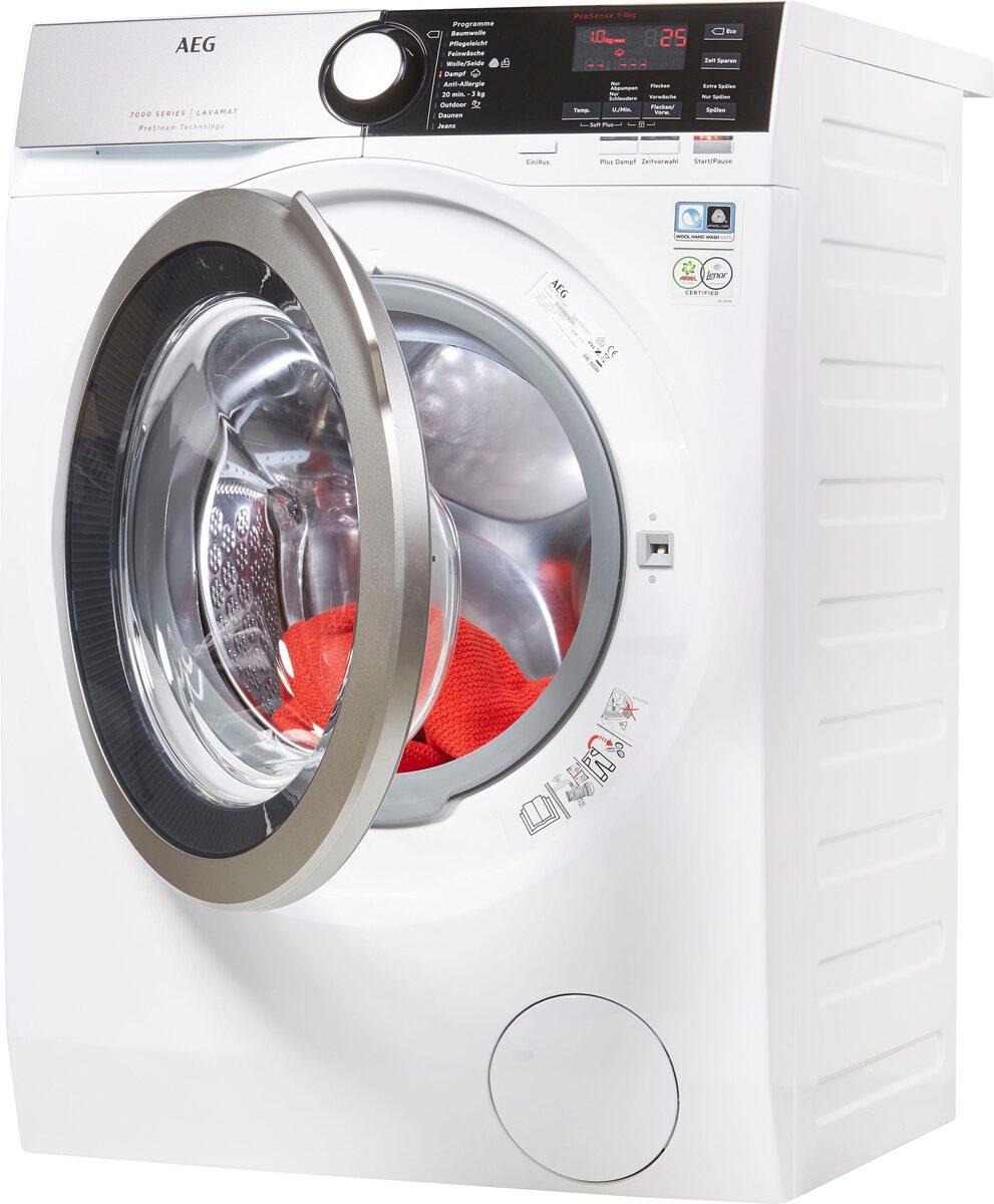 Bild 2 von AEG Waschmaschine L7FE74485, 8 kg, 1400 U/Min, ProSteam - Auffrischfunktion