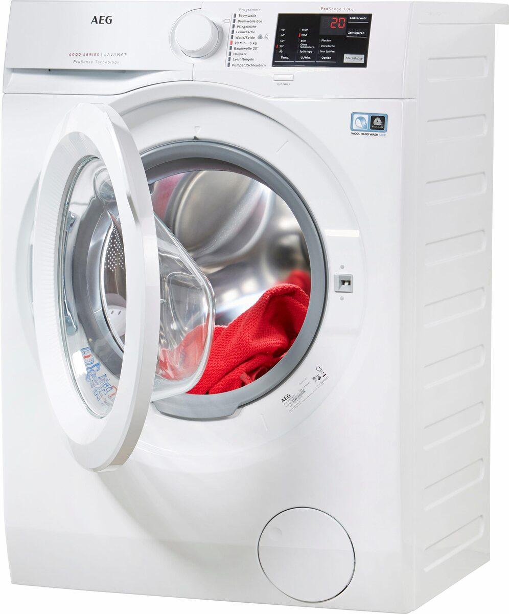 Bild 2 von AEG Waschmaschine LAVAMAT L6FB54480, 8 kg, 1400 U/Min, ProSense - Mengenautomatik