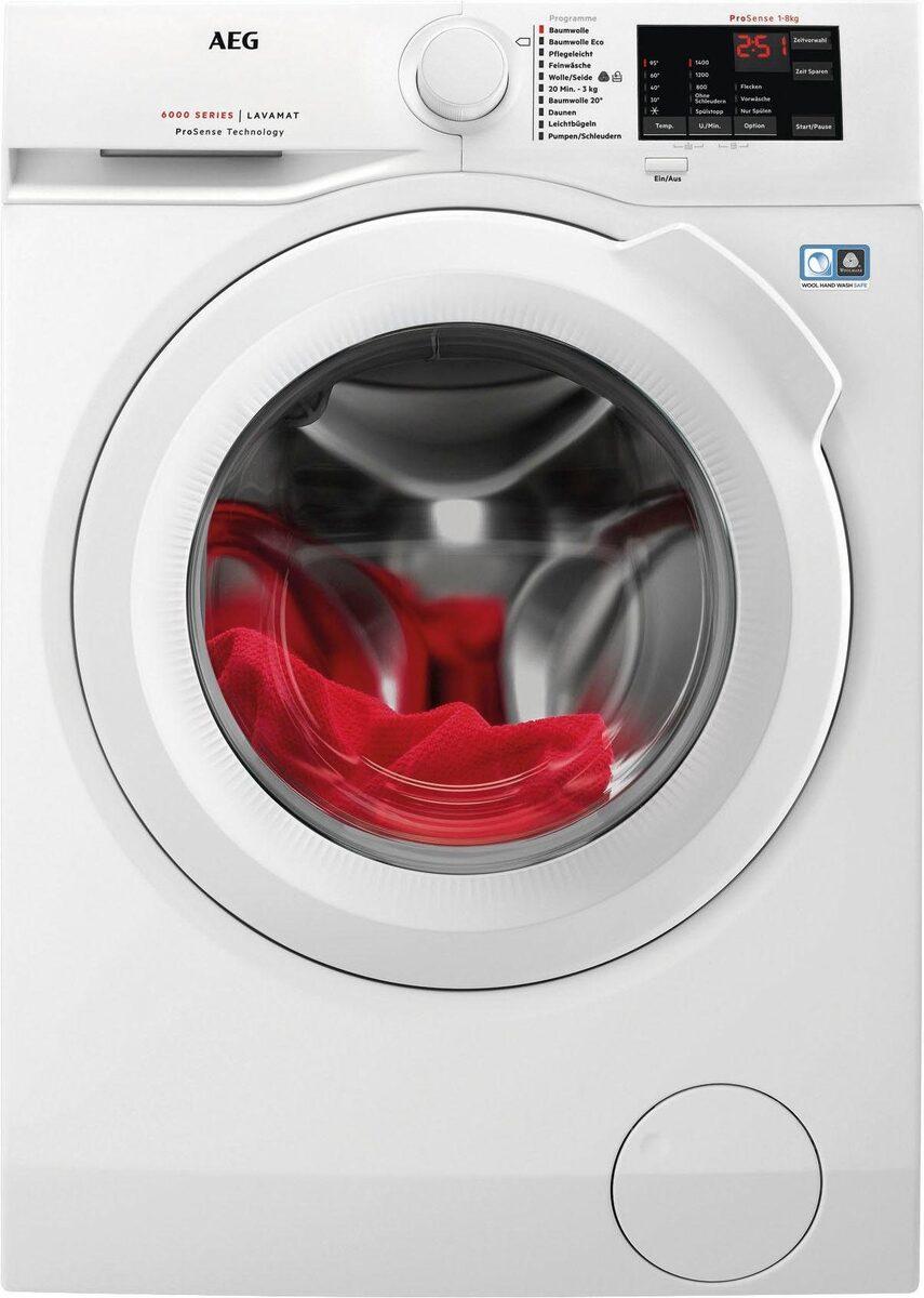 Bild 3 von AEG Waschmaschine LAVAMAT L6FB54480, 8 kg, 1400 U/Min, ProSense - Mengenautomatik