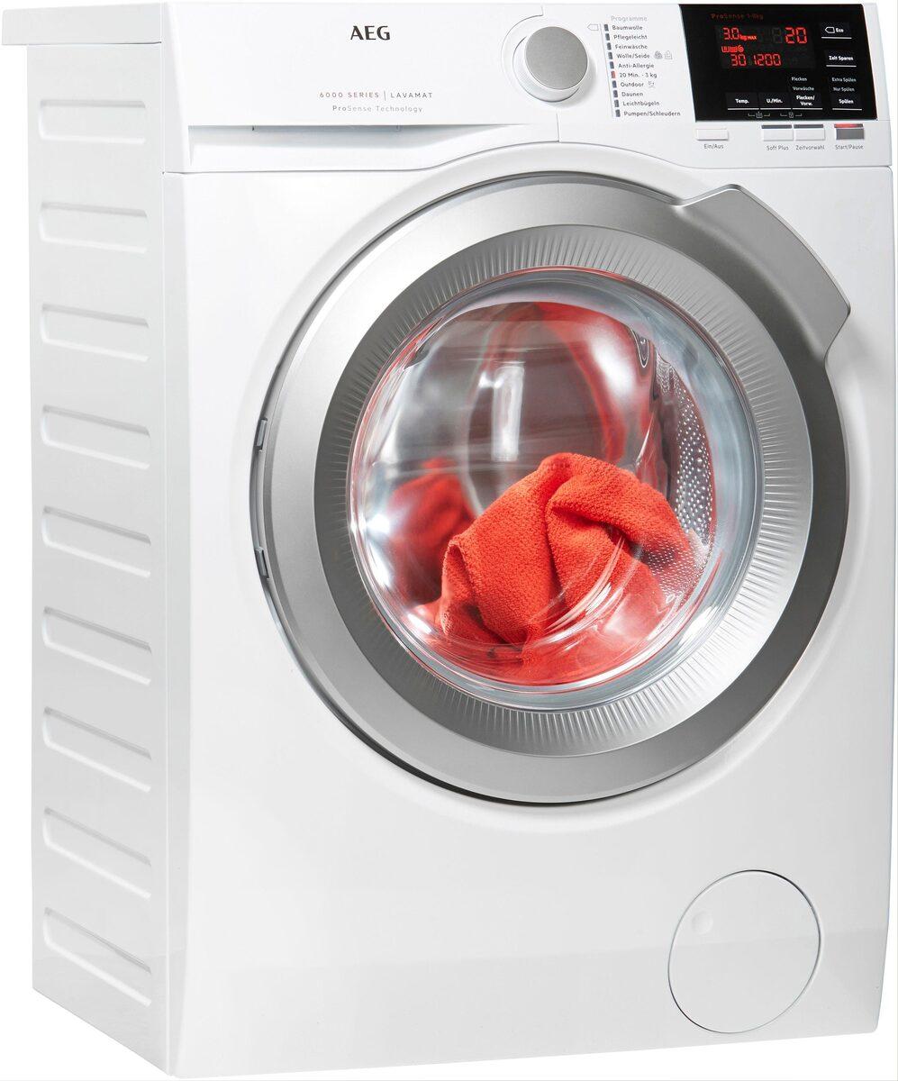 Bild 1 von AEG Waschmaschine 6000 L6FBA48, 8 kg, 1400 U/Min, ProSense - Mengenautomatik