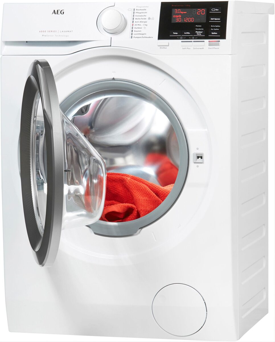 Bild 2 von AEG Waschmaschine 6000 L6FBA48, 8 kg, 1400 U/Min, ProSense - Mengenautomatik