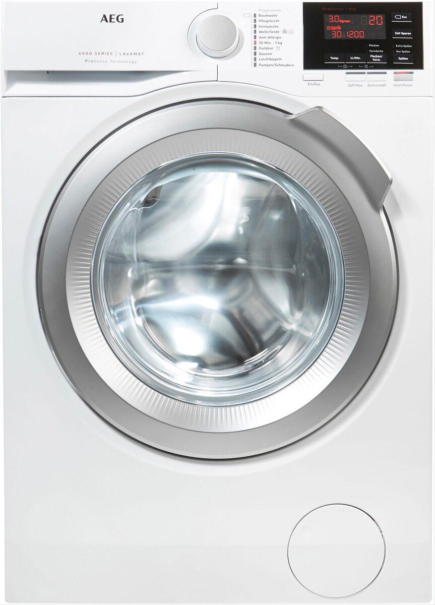 Bild 3 von AEG Waschmaschine 6000 L6FBA48, 8 kg, 1400 U/Min, ProSense - Mengenautomatik