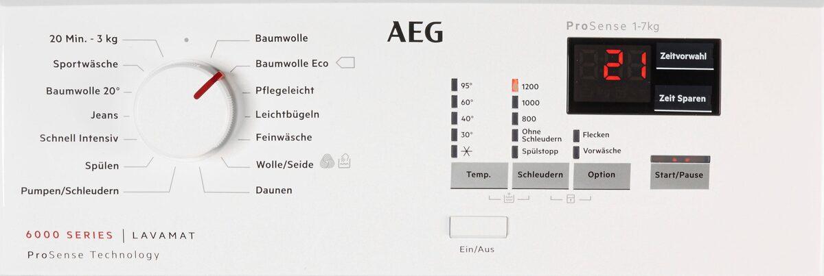 Bild 5 von AEG Waschmaschine Toplader 6000 L6TB41270, 7 kg, 1200 U/Min, Nachlegefunktion