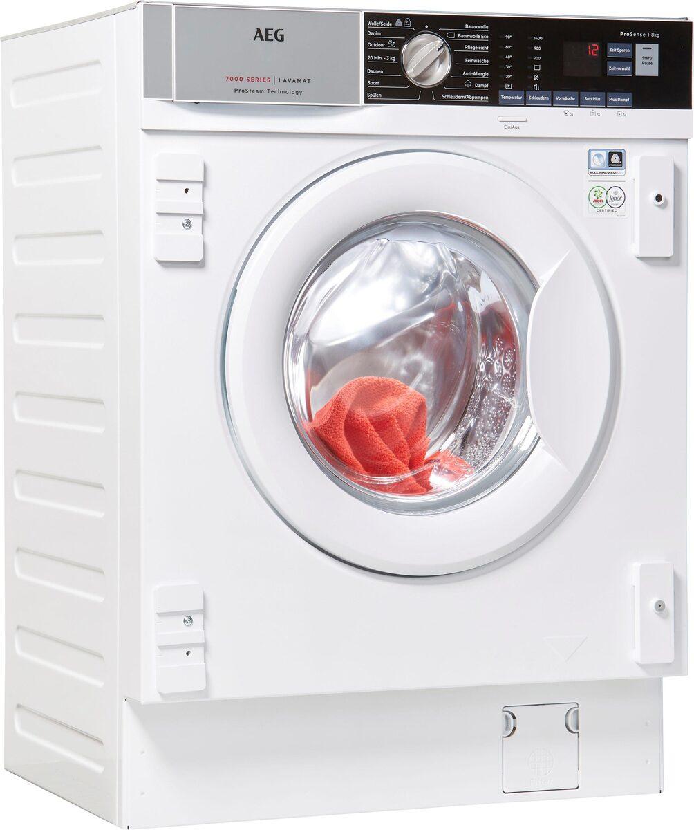 Bild 1 von AEG Einbauwaschmaschine L7FBI6480, 8 kg, 1400 U/Min, ProSteam - Auffrischfunktion