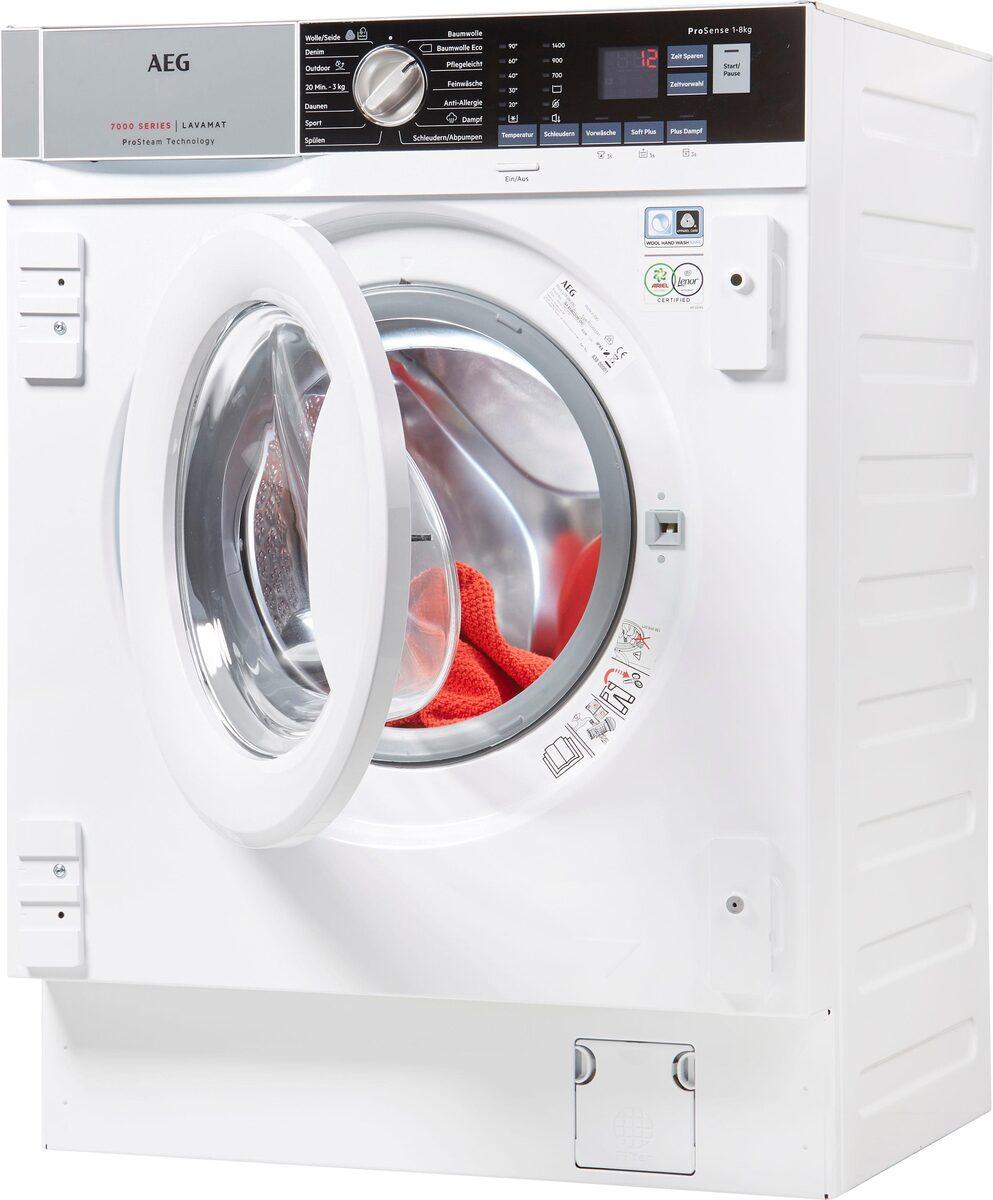 Bild 2 von AEG Einbauwaschmaschine L7FBI6480, 8 kg, 1400 U/Min, ProSteam - Auffrischfunktion