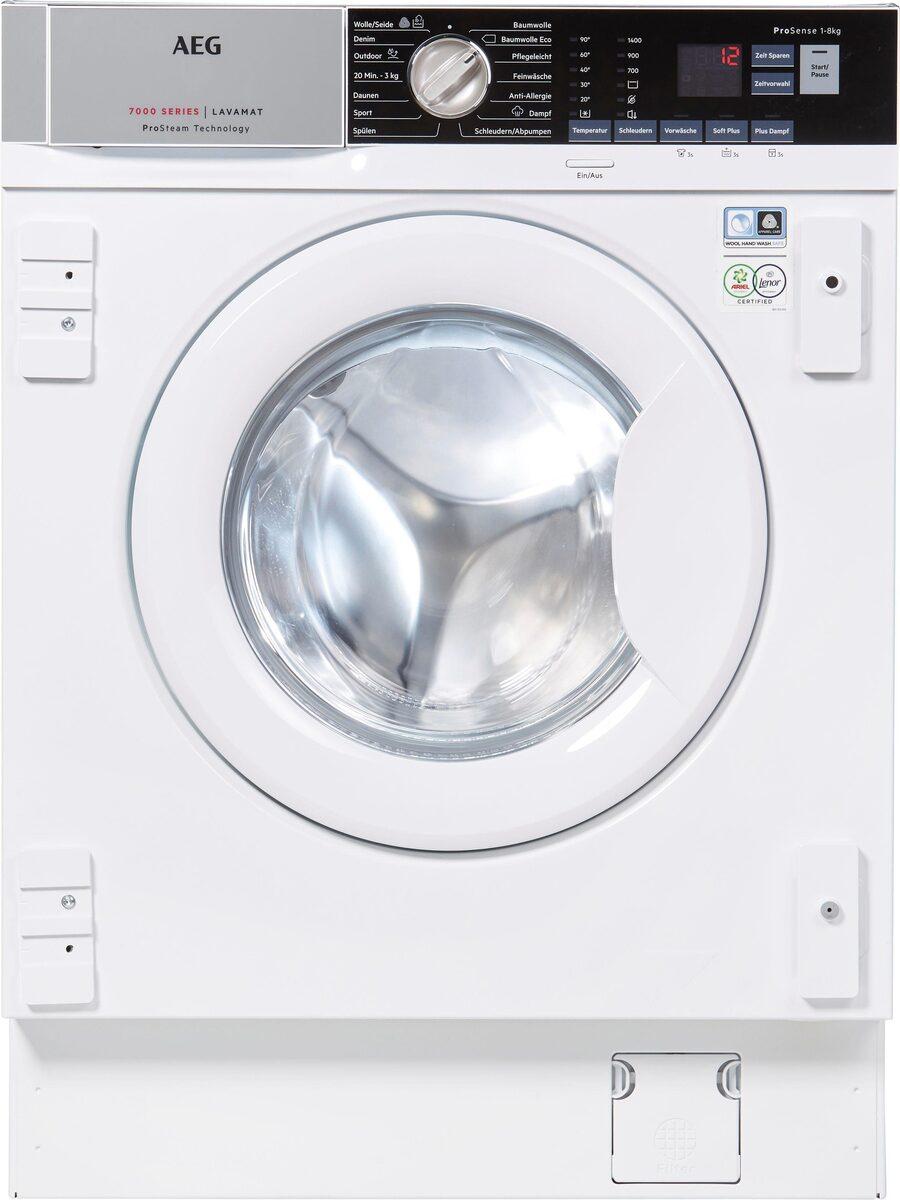 Bild 3 von AEG Einbauwaschmaschine L7FBI6480, 8 kg, 1400 U/Min, ProSteam - Auffrischfunktion