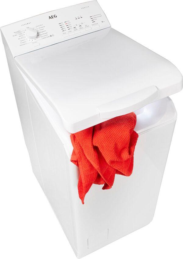 AEG Waschmaschine Toplader L51260TL 913103502, 6 kg, 1200 U/Min, Nachlegefunktion