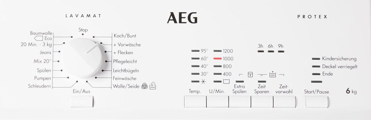 Bild 5 von AEG Waschmaschine Toplader L51260TL 913103502, 6 kg, 1200 U/Min, Nachlegefunktion
