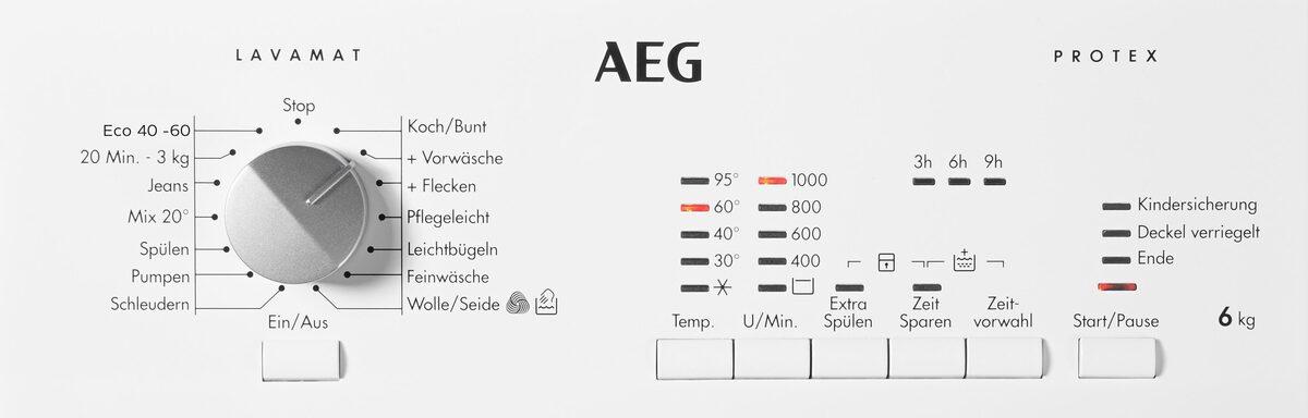Bild 5 von AEG Waschmaschine Toplader L51060TL 913 103 501, 6 kg, 1000 U/Min, Nachlegefunktion
