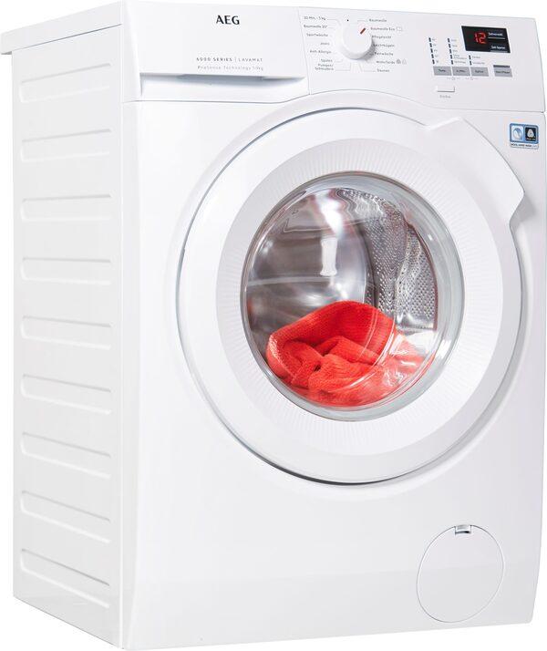 AEG Waschmaschine L6FBA494, 9 kg, 1400 U/Min, ProSense - Mengenautomatik