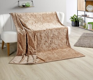 Bella Casa XXL Kaschmir Touch Decke, ca. 180x220cm, Praline