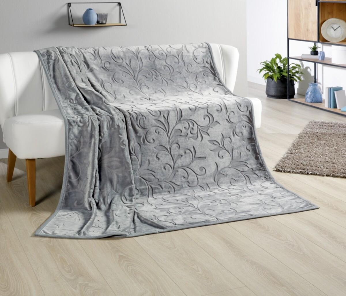 Bild 1 von Bella Casa XXL Kaschmir Touch Decke, ca. 180 x 220 cm, Frostgrau
