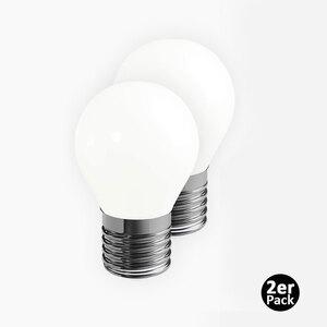 Duracell LED Vollglas Leuchtmittel, Tropfen, E27, 2W, 2er-Set