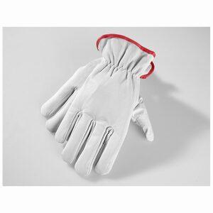 Powertec Garden Winter Ziegenleder Handschuhe, Größe 7 - rot