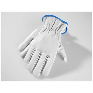 Powertec Garden Winter Ziegenleder Handschuhe, Größe 8 - hellblau