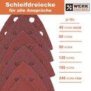 Bild 4 von Werk-Partner Dreieck Schleifscheiben 93 x 93mm - 60er