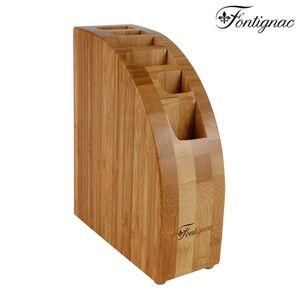 Fontignac Bambus-Messerblock für 5 Messer und 1 Schere
