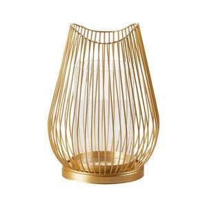 Windlicht M Metall Gold 17 x 17 x 23,5 cm