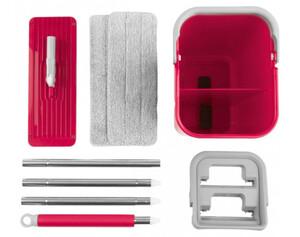 Reinigungsset CLEANmaxx rot/grau