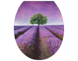 WC-Sitz Duroplast Motiv Purple Dream Absenkautomatik